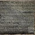 Confederate Solider Monument Poster by Randy Bodkins