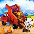 Construction Dogs 4 Print by Scott Nelson