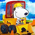 Construction Dogs Print by Scott Nelson