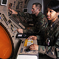 Control Technicians Use Radarscopes Print by Stocktrek Images
