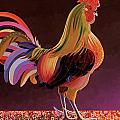Copper Rooster Print by Bob Coonts