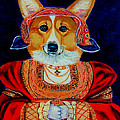 Corgi Queen Print by Lyn Cook