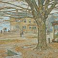 Cos Cob in November Print by Childe Hassam