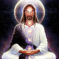 Cosmic Christ Print by George Atherton