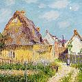 Cottage at Le Vaudreuil Poster by Gustave Loiseau