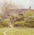 Cottage Freshwater Isle of Wight Print by Helen Allingham