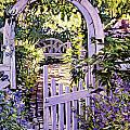 Country Garden Gate Poster by David Lloyd Glover