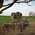 Country Home and Wagon Print by Athena Mckinzie