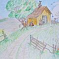 Country Woodshed Poster by Debbie Portwood