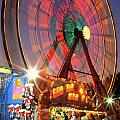 County Fair Ferris Wheel 2 Poster by Corky Willis Atlanta Photography