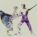 Couple Dancing Ballet Poster by Irina  March