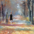 Couple in Park  Poster by Stefan Kuhn
