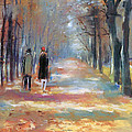 Couple walking in the Park Poster by Stefan Kuhn
