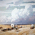 Covered Wagons Heading West Print by Newell Convers Wyeth