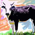 COW TIME Print by David Lloyd Glover