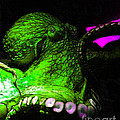 Creatures of The Deep - The Octopus - v6 - Green Print by Wingsdomain Art and Photography