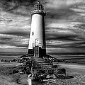 Crooked Lighthouse Print by Adrian Evans