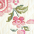 Cross Stitch Flower 1 Poster by Marilyn Hunt