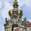 Crown Gate - Kronentor Zwinger Palace Dresden Print by Christine Till