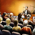 Crown Kevin Gowdey delivers opening address at the Rafferty trial Print by Alex Tavshunsky