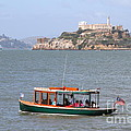 Cruizing The San Francisco Bay On The Pier 39 Boat Taxi With Alcatraz Island in The Distance.7D14322 Print by Wingsdomain Art and Photography