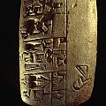 Cuneiform Writing Describes Commodities Print by Lynn Abercrombie