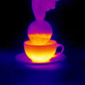 Cup Of Tea, Thermogram Print by Tony Mcconnell