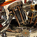 Custom Motorcycle Chopper . 7D13316 Poster by Wingsdomain Art and Photography