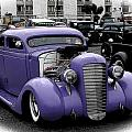 Custom Purple 35 Ford Poster by Steve McKinzie