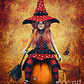 Cutest Little Witch Print by Jutta Maria Pusl