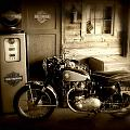 Cycle Garage Print by Perry Webster