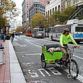 Cycle Rickshaw on Market Street in San Francisco Print by Wingsdomain Art and Photography