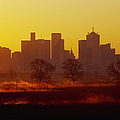 Dallas Skyline at Sunrise Poster by Jeremy Woodhouse