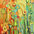 Dance of the Flower Pods Print by Jennifer Lommers