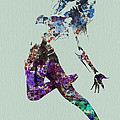 Dancer watercolor Print by Naxart Studio
