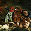 Dante and Virgil in the Underworld Print by Ferdinand Victor Eugene Delacroix
