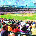 Day Game At The Old Ballpark Print by Wingsdomain Art and Photography