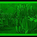 DECLARATION OF INDEPENDENCE in GREEN Print by ROB HANS