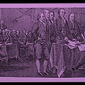 DECLARATION OF INDEPENDENCE in PINK Print by ROB HANS