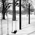 Deep Snow & Empty Swings After The Blizzard Poster by Trina Dopp Photography