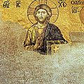 Deesis Mosaic Hagia Sophia-Christ Pantocrator-Judgement Day Poster by Urft Valley Art