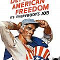 Defend American Freedom It's Everybody's Job Print by War Is Hell Store