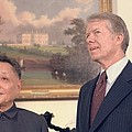 Deng Xiaoping And Jimmy Carter Poster by Everett