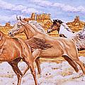 Desert Run Print by Richard De Wolfe