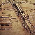Design for a Giant Crossbow Poster by Leonardo Da Vinci