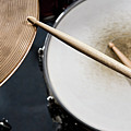 Detail Of Drumsticks And A Drum Kit Poster by Antenna