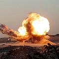 Detonation Of A Weapons Cache Poster by Stocktrek Images