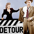 Detour, From Left Ann Savage, Tom Neal Poster by Everett
