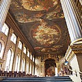 Dining Hall at Royal Naval College Print by Anna Villarreal Garbis