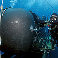 Divers Prepare To Launch A Seal Poster by Stocktrek Images